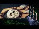 Snowy Owl dreamcatcher polymer clay notebook cover śniezna sowa łapacz snów notatnik