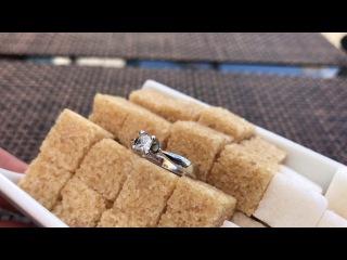 Кольцо с бриллиантом Принцесса 0,4 карат