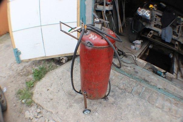 Дополнительный ресивер из газового баллона