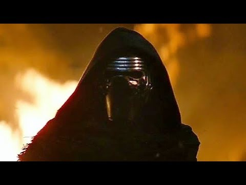 Kylo Ren attacks Jakku Opening Scene The Force Awakens