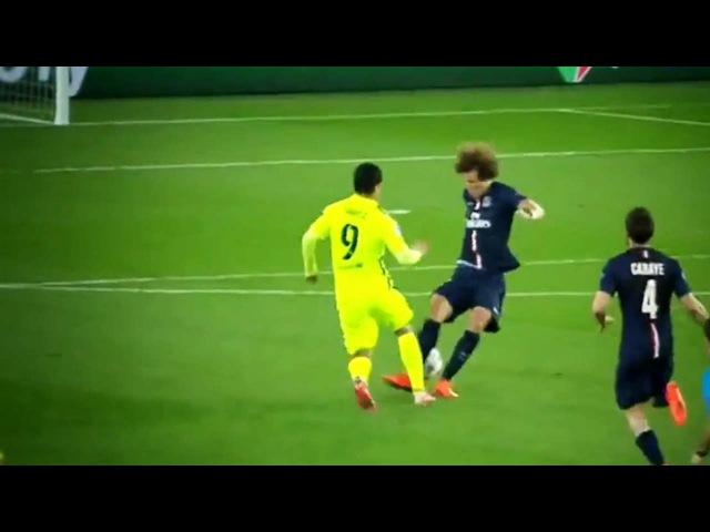 Luis Suarez Amazing Nutmegs Goals vs David Luiz   Barcelona vs PSG 3-1   HD