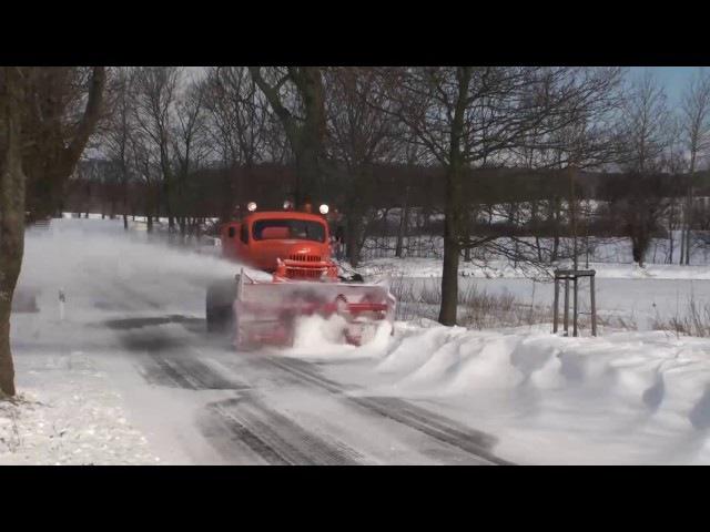 ZIL-157 as Snowblower in Rügen Island/ЗИЛ-157 Шнекоротор - 2013