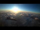 Дозаправка в воздухе перехватчиков МиГ-31 отдельного смешанного авиаполка ТОФ