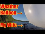 Exploding a GIANT Weather Balloon with Leaf Blower