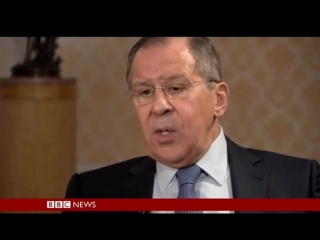 Интервью Сергея Лаврова на телеканале Би-Би-Си для программы Хард ток