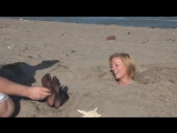 Beach buried feet tickling 25 [HD]