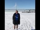 Манчини в шортах по льду Финского залива