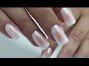 Как сделать ОМБРЕ втирка Белый Хром White Chrome Nails