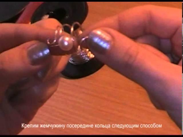 Мастер-класс по плетению простого кольца с жемчугом от Нелли Спусканюк