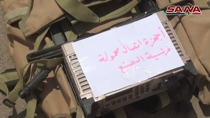 Weapons handed over by the terrorists in eastern Kalamoun before being taken to the Syrian north
