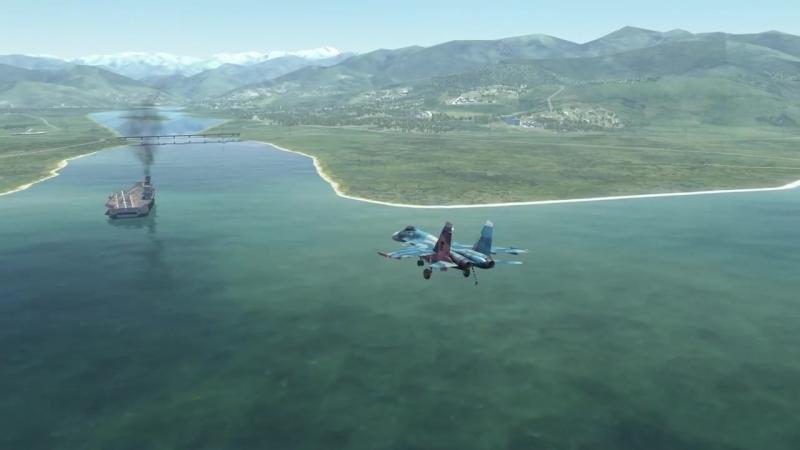 Su-33 Pugachevs Cobra Carrier Landing _ Су-33 PFM. Кобра с посадкой на Кузнецов