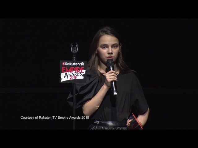 Best Female Newcomer - Dafne Keen, 2018 Rakuten TV Empire Awards