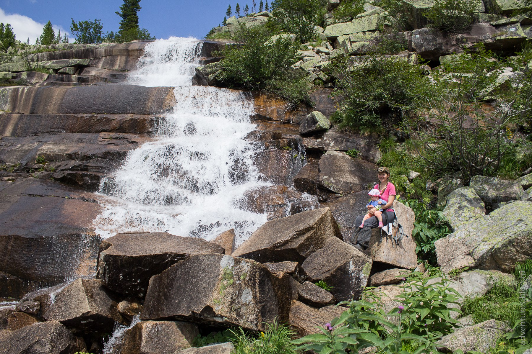 На водопаде Мраморном