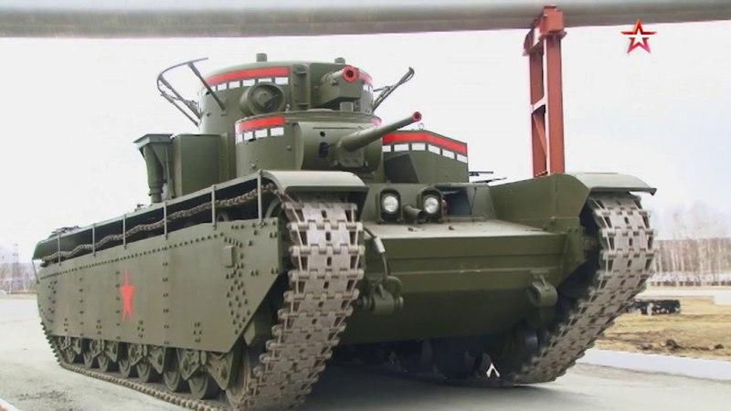 Самый мощный в мире: на Урале восстановили уникальный пятибашенный танк Т-35