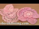 Crochet Floral Scrumble Tutorial 4 Part 1 of 2