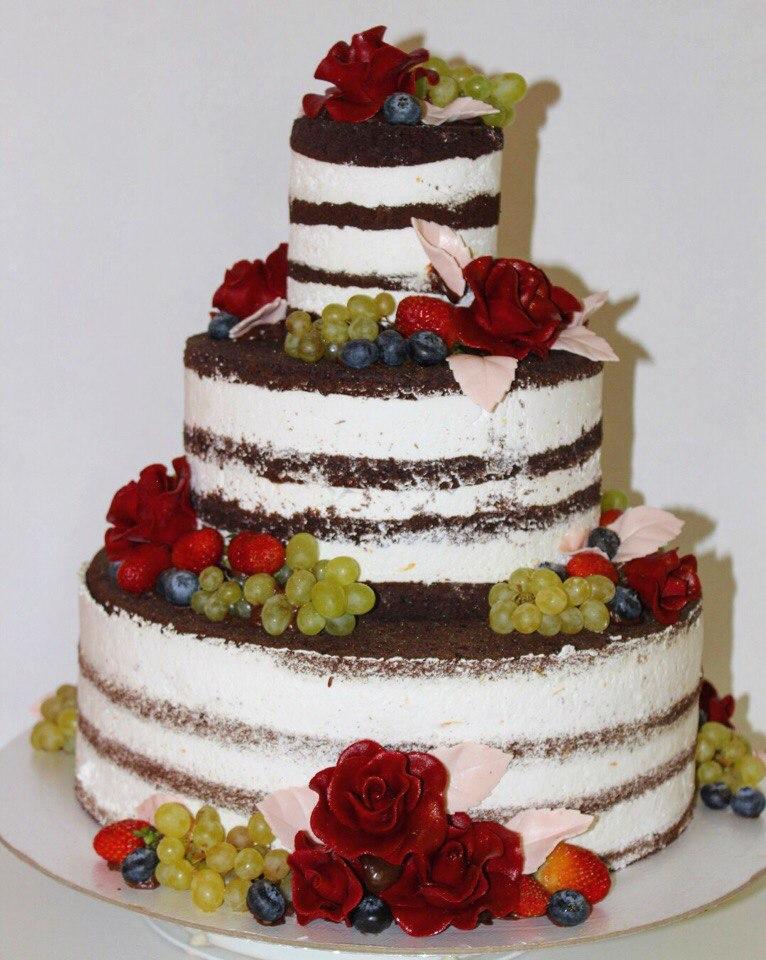 Открытый свадебный торт (арт. 33)