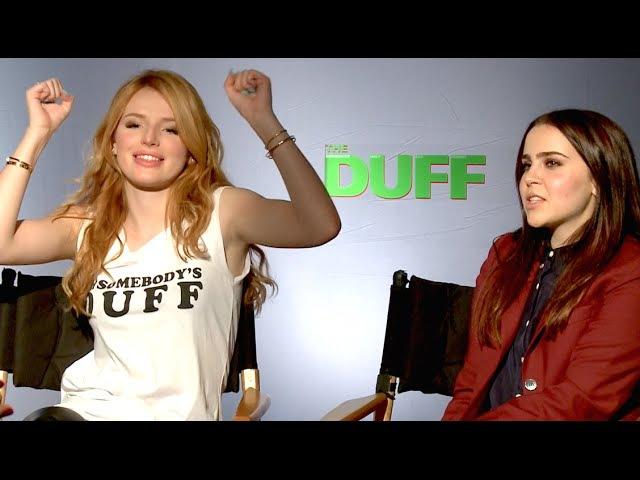 Mae Whitman Bella Thorne WEIRDEST TRAITS! The Duff Interview Part 1