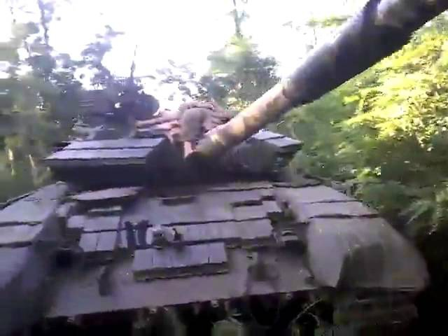 Рашистский танк в конопляном лесу