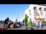 Weed Goddess free and naked smoking on the streets of San Francisco