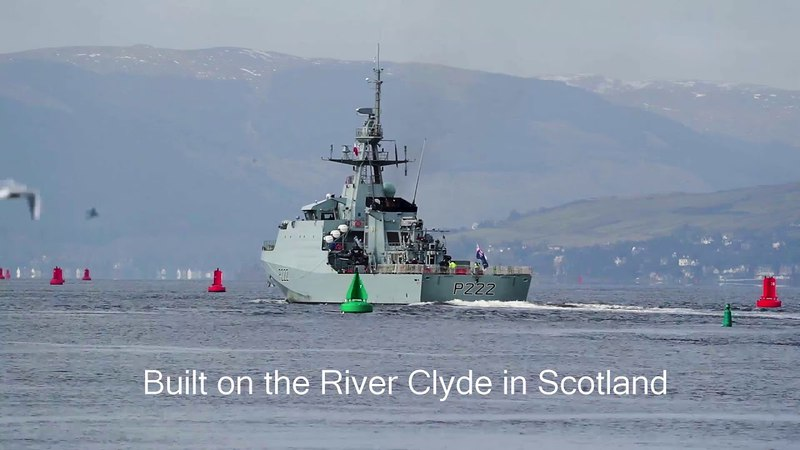 HMS Forth commissioning