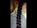 Play with my wife hair braid