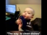 Когда дети - лучшие помощники дома!
