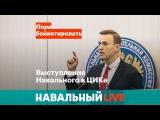 Выступление Навального в ЦИКе