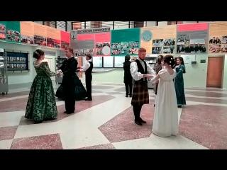 Выступление студии старинного танца