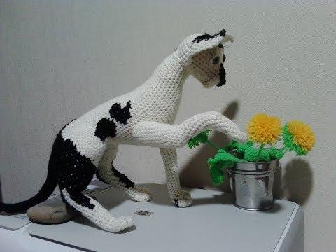 Кот Девон рекс, ч.4. Devon Rex Cat, р.4. Amigurumi. Crochet. Амигуруми. Игрушки крючком.