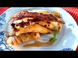 Рецепт блинов с беконом и яблоками