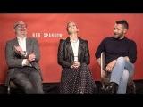 2018   Интервью Джоэла, Дженнифер Лоуренс и Фрэнсиса Лоуренса в рамках промо-тура фильма «Красный Воробей»