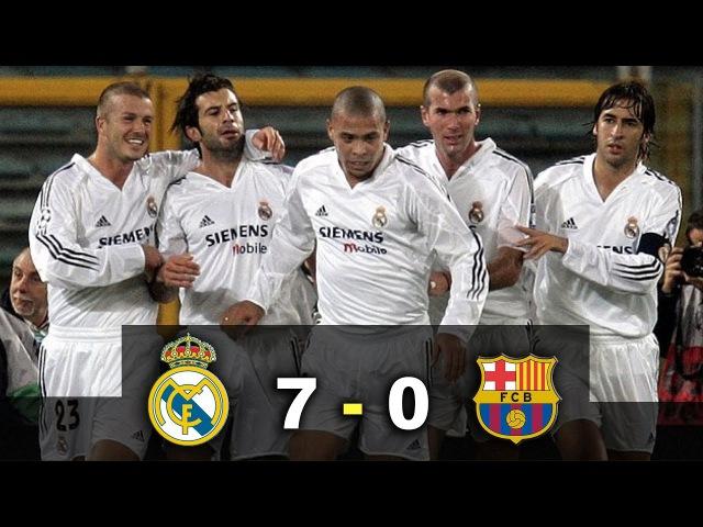 2003. Real Madrid 7 - 0 Barcelona - El Clásico - Había una vez un Ronaldo - Parody Los Galácticos 2003