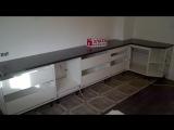 Фото процесса сборки кухни Злата мебель  СА 21051