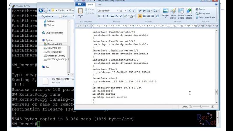 16 - Cisco IOS Copiar, Almacenar y Eliminar