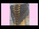 """Chal paso a paso 2 Chal Baktus Mariposas"""" Chal mariposas a crochet Ch №59"""