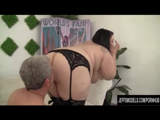 Cute and chubby plumper Alexxxis Allure fucking a fat cock