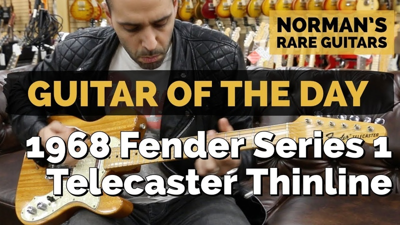 Guitar of the Day 1968 Fender Series 1 Telecaster Thinline Norman's Rare Guitars