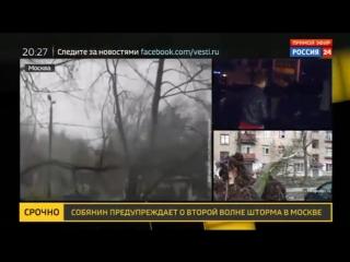 Россия 24 - Ураган разогнал автомобилистов по домам - Россия 24