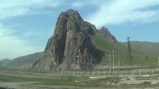 Узбекистан из окна автобуса  Долгая дорога в Нукус