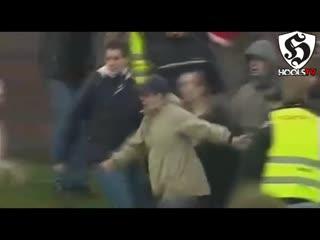 Hooligans fight _ naestved bk vs fc copenhagen