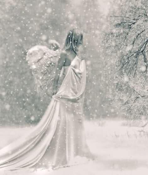 Картинки зимнее с ангелами красивые со спины