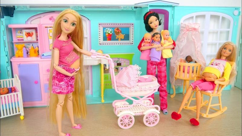 Talking Baby Stroller Walking Barbie Nursery Playset Poussette de bébé Kinderwagen يتحدث عربة طفل