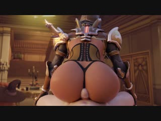Overwatch Sombra demon hunter buttjob by Arhoangel Rule34 R34