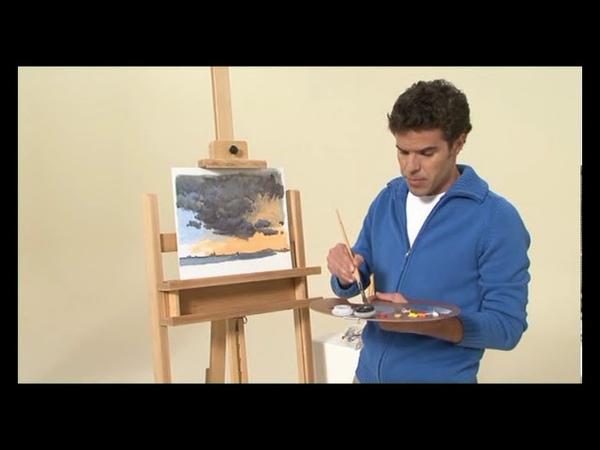 Malowanie nieba i chmur - farby olejne