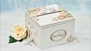 Decoupage ślubne pudełko na koperty DIY tutorial