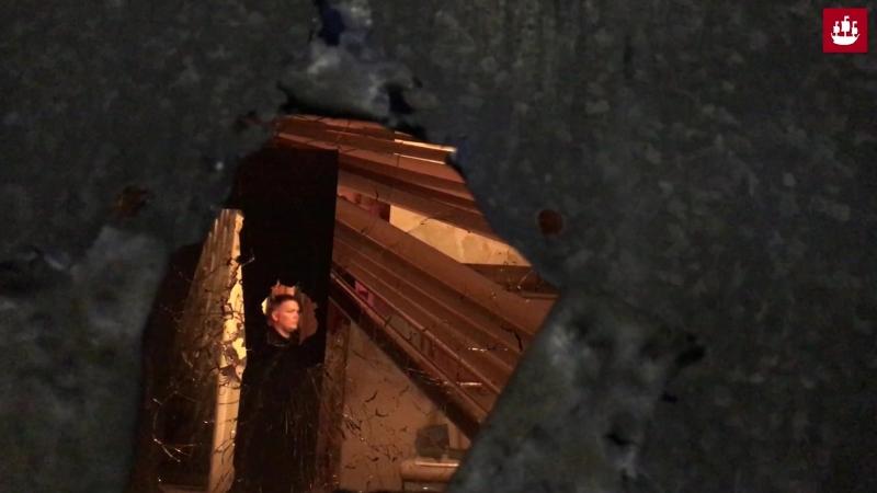 Кадры с места задержания пьяного стрелка на улице Костюшко в Петербурге