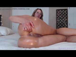 Hot mom jess ryan plays with pussy and ass on cam [cam porn webcam вебка порно приват запись онлайн]