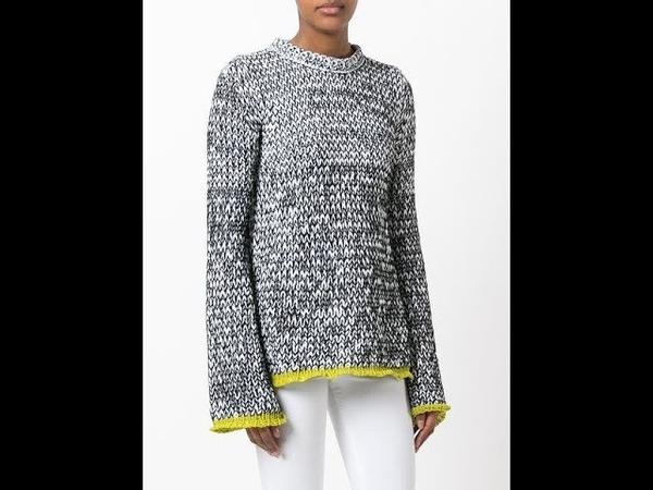 Серый Свитер Спицами - 2019 Gray Sweater Knitting Graue Strickjacke stricken