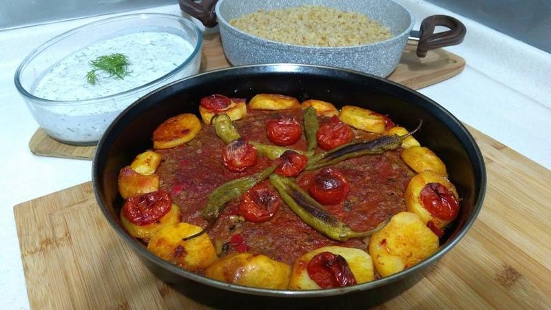 Kilis Tava İle Kolay Akşam yemeği Menüsü Kilis Tava Şehriyeli Bulgur Pilavı Cacık Seval Mutfakta
