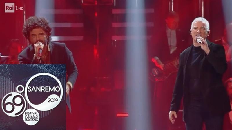 Sanremo 2019 - Francesco Renga e Bungaro cantano Aspetto che torni